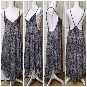 Free People Asymmetrical Tribal Strappy Dress